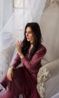 3 Piece Shirt - Pure Russian Raw Silk with Dori thread & Stone Embroidery Trouser - Pure Russian Raw Silk Pure Chiffon Dupatta