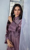 2 Piece Shirt - Pure Russian Raw Silk with Dori thread & Stone Embroidery Trousers - Pure Russian Raw Silk