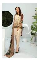 Embroidered Chikankari Lawn Chiffon Dupatta Plain Trouser