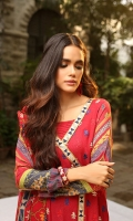 Dupatta: Woolen Shawl, 2.5 Meters Shirt Front: Dyed Emb, 1.25 Meters Shirt Back: Dyed, 1.25 Meters Sleeves: Printed, 01 Pair Trouser: Dyed, 2.5 Meters Border: Emb, 02 Pieces