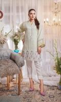 Embroidered Paper Silk Stitch Kurti 1PC
