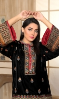 Embroidered Velvet Shirt Jamawar Trouser