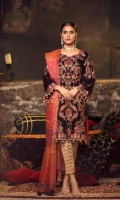 Velvet Embroidered front 0.8MtrVelvet Embroidered back 0.8MtrVelvet Embroidered sleeves 0.66MtrBanarsi dupatta 2.5YardJamawar trouser 2.5Yard ACCESSORIES ARE ON THE TOP, NOT INCLUDED IN THE PACKAGE  CARE INSTRUCTIONS Use a...