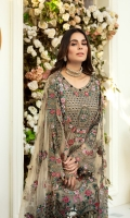 CHVFON EMBROIDERED FRONT 0.8 MTRCHVFON EMBROIDERED BACK 0.8 MTRCHlFF0N EMBROIDERED SLEEVES 0.66 MTRORGANZA EMBR0IDERED BORDER FOR SLEEVES 0.9 MTR ORGANZA EMBROIDERED M0TIF F0R SLEEVES 4 PCSNET EMBROIDERED DUPATTA...