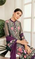 CHIFFON EMBROIDERED FRONT 0.8 MTRCHIFFON DYED BACK 0.8 MTRCHIFFON EMBROIDERED SLEEVES 0.66 MTRORGANZA EMBROIDERED BORDER FRONT 1 PCSORGANZA EMBROIDERED MOTIF FRONT 1 PCSORGANZA EMBROIDERED NECK FRONT 1 PCSORGANZA...