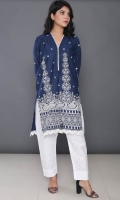 Embroidered Cotton Stitched Kurti