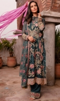 EMBROIDERED CHIFFON FRONT PLAIN CHIFFON BACK EMBROIDERED SILK FRONT AND BACK HEM (BORDER) EMBROIDERED ORGANZA NECKLINE FINISHING EMBROIDERED CHIFFON SLEEVES EMBROIDERED SILK SLEEVES PATCH RAW SILK PANTS EMBROIDERED ORGANZA PANTS PATCH EMBROIDERED CHIFFON DUPATTA