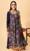 Embroidered Linen Front Embroidered Linen Back Embroidered Organza Front Border Embroidered Organza Neckline Finishing Embroidered Linen Sleeves Embroidered Organza Sleeve Patch Linen Pants Digital Print Chiffon Dupatta