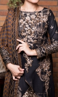 Fabric: 3.0 meter embroidered lawn shirt  2.5 meter printed trouser 2.5 meter crinkle chifofn dupatta
