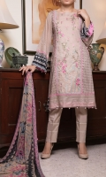 Fabric: 3.0 meter embroidered lawn shirt  2.5 meter printed trouser 2.5 meter crinkle chifofn dupatta