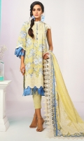 Printed Voile Dupatta Printed Lawn shirt 3.12 Meters 2 Separate Embroidered Bunches Cambric Dyed Trouser