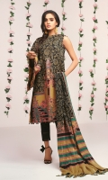 Printed Doria Dupatta Printed Cambric shirt 3.12 Meters Cambric Dyed Trouser