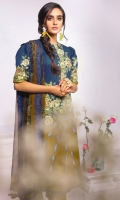 Printed Chiffon Dupatta Printed Cambric shirt 3.12 Meters Cambric Dyed Trouser