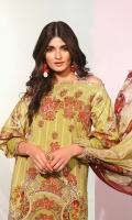 Digital Chiffon Dupatta Digital Cotton satin Shirt 3.12 Meters Dyed cambric Trouser