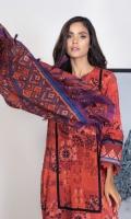 Shirt: Printed Viscose Shirt 3.12 Meters Fabric: Viscose  Shawl: Printed Shawl  Trouser: Dyed Viscose Trouser Fabric: Viscose