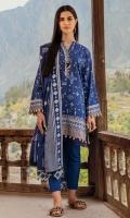 Shirt: Printed Khaddar Shirt 3 Meters Fabric: Khaddar  Dupatta: Printed Khaddar Dupatta Fabric: Khaddar  Trouser: Dyed Khaddar Trouser Fabric: Khaddar