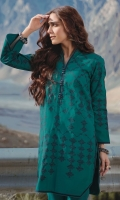 Shirt: Printed Khaddar Shirt 3.12 Meters Fabric: Khaddar  Trouser: Dyed Khaddar Trouser Fabric: Khaddar