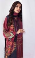 Shirt: Embroidered Khaddar Shirt 3.12 Meters Fabric: Khaddar  Dupatta: Khaddar Dupatta Fabric: Khaddar  Trouser: Dyed Khaddar Trouser Fabric: Khaddar