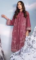 Shirt: Printed Yarn Dyed Shirt 3.12 Meters Fabric: Yarn Dyed  Trouser: Dyed Khaddar Trouser Fabric: Khaddar