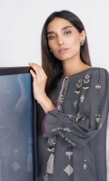 Shirt: Embroidered Jacquard Shirt 3.12 Meters Fabric: Jacquard  Trouser: Dyed Khaddar Trouser Fabric: Khaddar