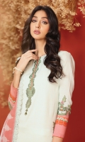 Shirt: Digital Printed Light Cambric Shirt 3.12 Meters Separate Embroidered Neckline On Organza Fabric: Cambric  Dupatta: Digital Printed Chiffon Dupatta Fabric: Chiffon  Trousers: Dyed Cambric Trousers Fabric: Cambric