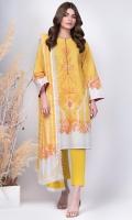 Shirt: Printed Light Cambric Shirt 3.12 Meters Fabric: Light Cambric  Dupatta: Printed Doriya Dupatta Fabric: Doriya  Trouser: Dyed Cambric Trouserss Fabric: Cambric