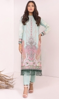 Shirt: Digital Printed Cambric Shirt 3.12 Meters Embroidered Sleeves Fabric: Cambric
