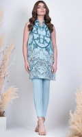 Shirt: Printed Light Cambric Shirt 3.12 Meters Fabric: Light Cambric  Trouser: Dyed Cambric Trousers Fabric: Cambric