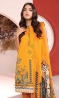 Shirt: Printed Cambric Shirt 3.12 Meters Fabric: Cambric  Dupatta: Printed Cotton Net Dupatta Fabric: Cotton Net