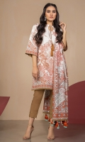 Printed Doria Lawn Dupatta Printed Doria Lawn Shirt Sleeves 3.12 Meters Dyed Cambric Trouser