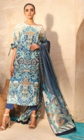 Printed Cotton Net Dupatta Printed Lawn Shirt 3.12 Meters Dyed Cambric Trouser