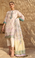 Jacquard Dupatta Printed Slub Lawn Shirt/sleeves 3.12 Meters Separate Neckline & Separate Embroidered Border Dyed Cambric Trouser