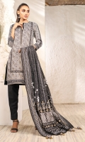Printed Doria Dupatta Printed Lawn Shirt 3 Meters Dyed Cambric Trouser
