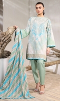 Printed Doria Dupatta Printed Lawn Shirt 3.12 Meters Dyed Cambric Trouser