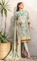 Printed Voile Dupatta Printed Lawn Shirt 3.12 Meters Dyed Cambric Trouser