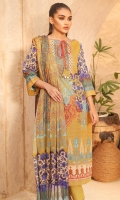 Digital voile dupatta Digital lawn shirt 3.12 meters Dyed cambric trouser