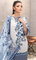 Digital jacquard net dupatta Printed lawn shirt 3.12 meters Dyed cambric trouser