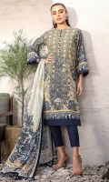 Digital cotton net dupatta Digital lawn shirt 3.12 meters Dyed cambric trouser