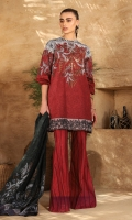 Printed voile dupatta Printed lawn shirt 3.12 meters Separate embroidered border 1 meter
