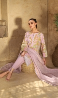 Fancy net dupatta Printed slub lawn shirt 3.12 meters Dyed cambric trouser