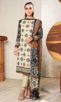 Silk digital dupatta Printed slub lawn shirt 3.12 meters Embroidered shirt front