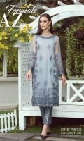 Front: Full Thread Embroidery and neck Border Back: Plain Dyed Net Sleeves: Thread Embroidered Embroidery: Thread work with Sequin Details