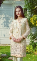 Front: Full embroidered Sleeves: Embroidered Sleeves Back: Plain Dyed Back Embroidery: Thread Embroidery and Sequin Details.