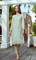 Front: Full Embroidered Sleeves: Embroidered Back: Plain Dyed Back Embroidery: Thread Embroidery with Sequin Details.