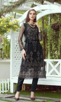 Front: Full Front Thread Embroidered Daman: Embroidered Border Daman and Sleeves: Embroidered Sleeves Back: Embroidered Embroidery: Tilla and Thread Embroidery with Sequin Details.