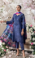 Shirt Front : Digital Printed Shirt Back : Digital Printed Sleeves : Digital Printed Dupatta : Digital Printed Silk Trouser : Dyed Cambric  Embroidery Details: Embroidered Gala with Hand Embellishment Embroidered Border For Sleeves Embroidered Chikankari Front
