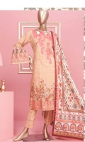 Shirt : Digital Printed Lawn Dupatta : Digital Printed Lawn Trouser: Dyed Cotton  EMBROIDERY: Embroidered Gala on Shirt