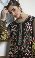 Front Embroidery with Tilla,  Back Embroidery Tilla, Extra Side Panels,  Embroided Tilla Sleeves Two Side Border,  Dupatta Front and Back Patti, Embroided Patches for Trouser