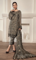 Embroidered Chiffon Front Embroidered Chiffon Back & Kali Embroidered Chiffon Sleeves Embroidered Front, Back & Sleeves Patch Embroidered Chiffon Dupatta Grip Trouser