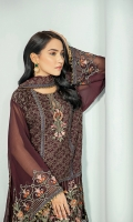 Embroidered Chiffon Front Embroidered Chiffon Back Embroidered Chiffon Sleeves Embroidered Chiffon Dupatta Grip Trouser